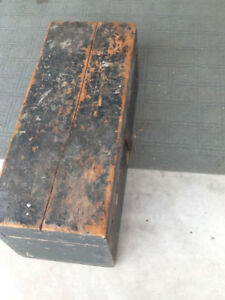 Great Old Wooden Tool Box