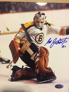 ED JOHNSTON Signed Boston Bruins Vintage 8x10 NHL Hockey Photo