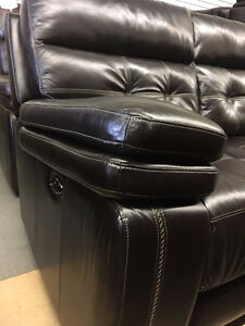 POWER RECLINING - GENUINE LEATHER SOFA SALE