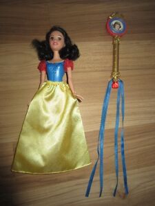 "DISNEY PRINCESS ""SNOW WHITE"" DOLL WITH WAND - $6.00 for BOTH"