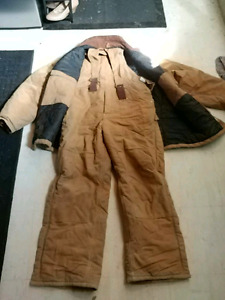 Xl carhartt thermal winter bib suit