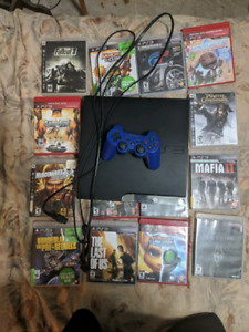Sony PS3 Console with games and controller