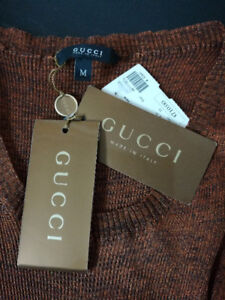 GUCCI Brown Knit Top Sz.S/M (New With Tag) 100% Authentic