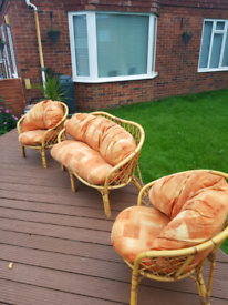 3 or 4 piece cain conservatory furniture