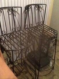 Bar stools wrought iron bespoke