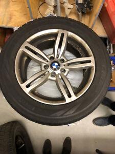 BMW X5 Rims with Pirelli Scorpion Snow Tires 255 / 55 R18