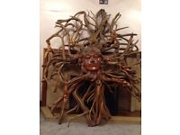 5FT BY 5FT BESPOKE SOLID WOOD CARVED SCULPTURE