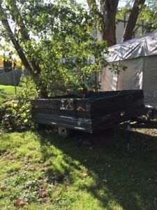 8 x 6 Utility Trailer, Good Tires, Needs tidied up.  $300.