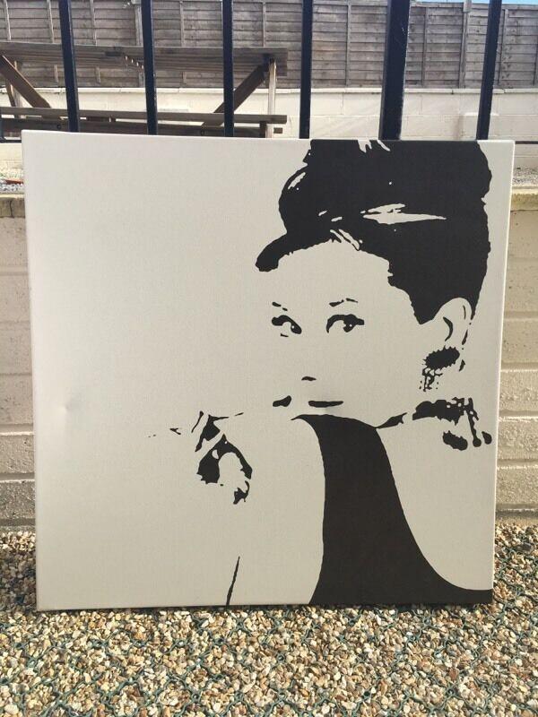 Large Audrey Hepburn canvas picture IKEA | in Newton Abbot, Devon ...