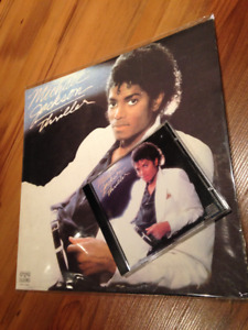 Michael Jackson Thriller vinyl record and CD