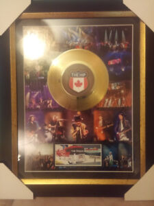 TRAGICALLY HIP LICENSED FRAME WITH GOLD RECORD