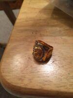 Men's gold dragon ring