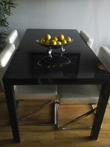 Modern Extendable charcoal dinning room table