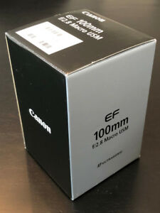 Canon EF 100mm f/2.8 Macro USM Lens in excellent condition 10/10