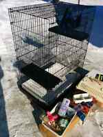 Ferret Cage mansion and many extras!