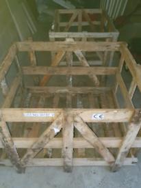 Hard wood crates
