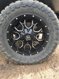 Mayhem Warrior Rims with Toyo Open Country tires