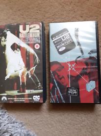 U2 VHS cassettes £8