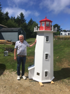 6.5 foot Peggy's Cove Lighthouse Replica