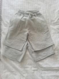 2 pair of next grey shorts aged 8 years