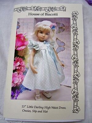 "Effner 13"" Little Darling Pattern for  High Waist Dress, Undies and Beret"