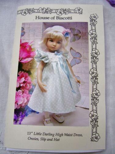 "Effner 13"" Little Darling Pattern for  High Waist Dress, Undies and Beret"