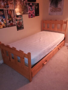Twin Captain's Bed with Mattress