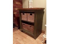 Green Oak Sideboard / Display Console Unit for living room