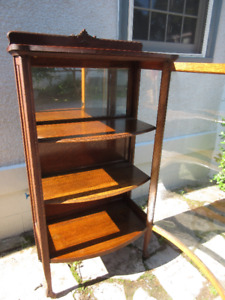 Bow Front Glass Antique (c1910) China Cabinet-McLAGAN!
