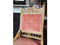 Victorian walnut and upholstered chair