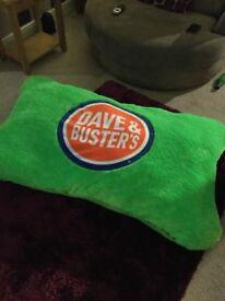 Fantastic Large Dave & Busters bean bag cushion pillow