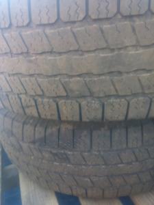 """Four 17"""" Dodge Ram Rims & Tires + Spare Black Rim &Tire"""