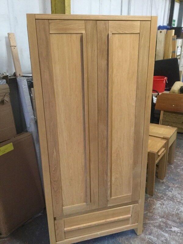 SOMONA M&S solid oak wardrobe