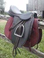 "16"" Supra Synthetic Dressage Saddle"