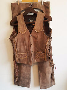 HARLEY DAVIDSON SCREAMING EAGLE TAN LEATHER MOTORCYCLE OUTFIT XS