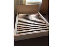IKEA Malm double bed and Hovag medium-firm Mattress (European double)