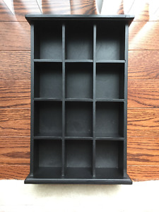 Wooden Wall Display/Storage with 12 Compartments