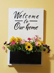 Rustic Toilet Paper Stand / Welcome to Our home sign