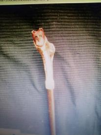Carved fox walking stick