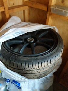 """18"""" universal 5bolt Rtx R-Spec rims and tires"""