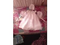Baby christening set and shoes