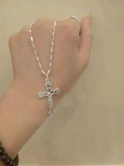 999 sterling silver cross pendant