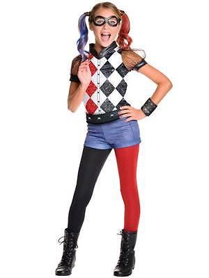 Deluxe Harley Quinn Kids Girls Sucide Squad Joker Fancy Dress Costume 5-10yrs - Joker Girls Costume