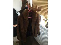 Ladies 12-14 Vintage fur coat