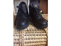 Back draft steel toe cap shoes/boots size 8