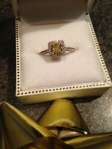 Beautiful Fancy Yellow Diamond Bridal Set