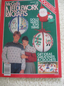 McCall's 1982 CHRISTMAS NEEDLEWORK and CRAFTS IDEA MAG...