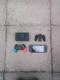 Nintendo switch (grey with added off brand controller and 60gb memory)