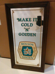 Vintage Molson golden bar decor