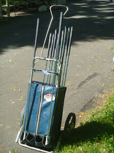 FOREWAY VINTAGE  LADY'S PULL CART AND REGENCY CLUBS